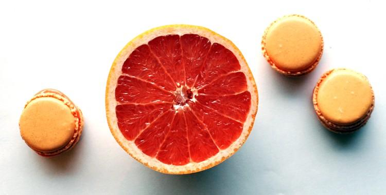 Grapefruit Macarons