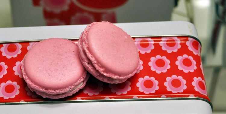 Litchi Macarons