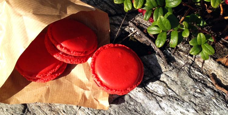 Lingonberry Macarons